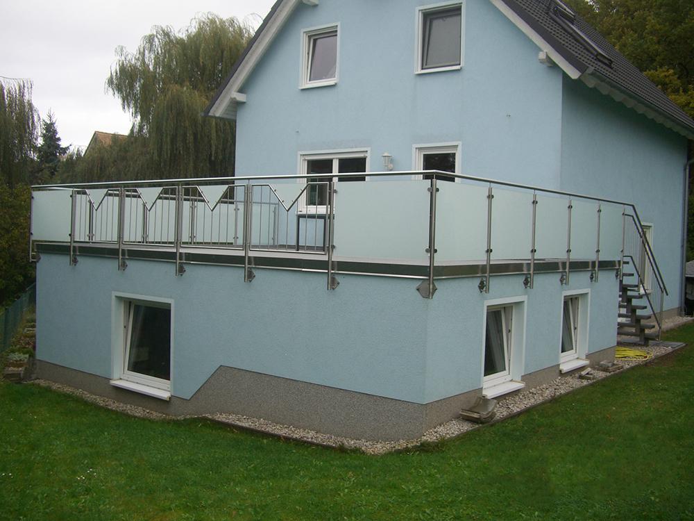 Terrasse Mit Geländer leipziger edelstahlbau und systemgeländer | geländer aus edelstahl